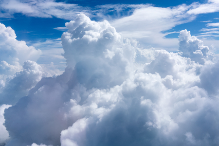 fluffy: Fluffy clouds in sky