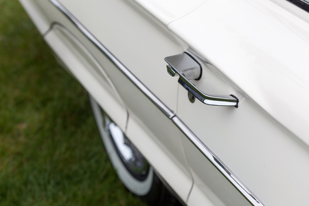Antique, Car, Car Door, Chrome, Closed, Close-up, Collectors Car, Colour Image, Day, Differential Focus, Elegance, Handle, Horizontal, Land Vehicle, Luxury, Metal, Mode Of Transport, Motor Vehicle, No People, Nostalgia, Old, Old-fashioned, Outdoors, Phot