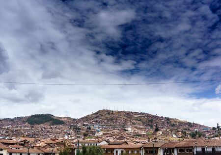 Architecture, Building Exterior, Built Structure, City, Cityscape, Cloud - Sky, Colour Image, Crowded, Cusco City, Day, Distant, Horizontal, House, Mountain, No People, Outdoors, Peru, Photography, The Andes, Residential Building, Residential District, Re