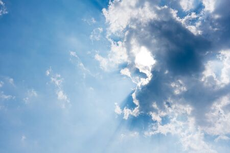 colour image: Atmosphere, Awe, Back Lit, Backgrounds, Beauty In Nature, Blue, Cloud - Sky, Cloudscape, Colour Image, Day, Dramatic Sky, Environment, Ethereal, Heaven, Horizontal, Idyllic, Infinity, Low Angle View, Majestic, Nature, No People, Outdoors, Overcast, Photog