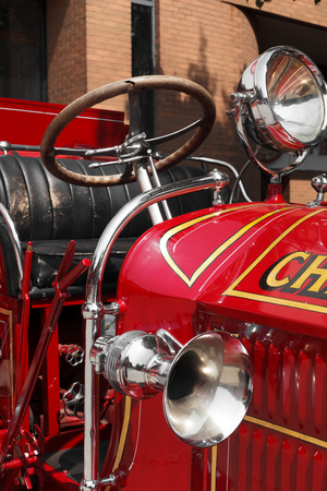 Vehicle Seat, Day, Car Horn, Steering Wheel, Memories, Nostalgia, Service, Emergency Services Vehicle, Fire Station, Emergencies And Disasters, Emergency Services Equipment, Fire Engine, History, Mode Of Transport, Old-fashioned, Outdoors, Retro Styled, V