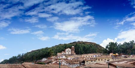 Architecture, Blue, Building Exterior, Built Structure, City, Cityscape, Cloud - Sky, Colour Image, Crowded, Cusco City, Day, Horizontal, House, Mountain, No People, Outdoors, Peru, Photography, Residential Building, Residential District, Residential Stru