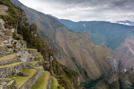 Physical Geography, International Landmark, Mountain, Nature, Cloud - Sky, No People, Outdoors, Photography, Tranquil Scene, Travel Destinations, UNESCO World Heritage Site, The Andes, Tourism, The Past, Urubamba Valley, Ancient Civilisation, History, Mac Stock Photo
