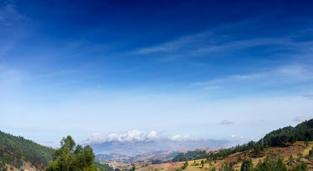 hill range: Beauty In Nature, Cloud - Sky, Colour Image, Cusco City, Day, Distant, Hill, Horizontal, Idyllic, Landscape, Majestic, Mountain Range, No People, Non-urban Scene, Outdoors, Peru, Photography, Physical Geography, Sky, Mountain, Tranquil Scene, Tranquillity