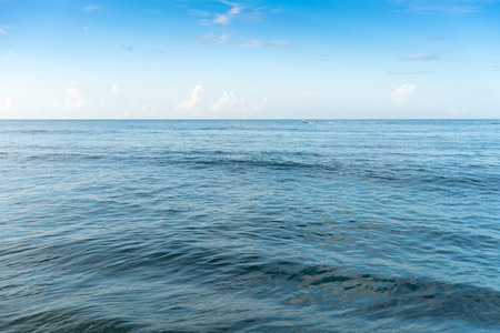 tranquillity: Scenics, Tranquil Scene, Day, Horizontal, Travel Destinations, Sea, Sky, Tranquillity, Water, Beauty In Nature, Blue, Colour Image, Horizon Over Water, No People, Outdoors, Photography, Seascape, Cloud - Sky, Nature, Awe, Idyllic, Island, Majestic, Non-ur Stock Photo