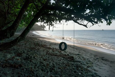 water feature: Coastal Feature, Coastline, Colour Image, Day, Growth, Island, Non-urban Scene, Scenics, Summer, Tourism, Tranquil Scene, Travel, Travel Destinations, Trinidad And Tobago, Tropical Climate, Water, Trinidad - Trinidad And Tobago, Branch, Absence, Beach, Ha