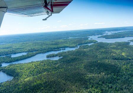 contryside: contryside ontario canada nature inside float plane Stock Photo