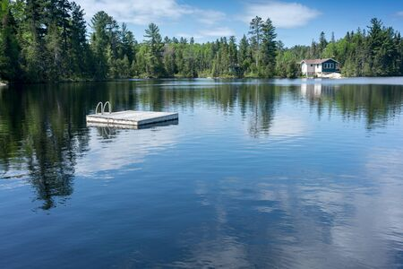 contryside: contryside ontario canada nature sunny day on the lake