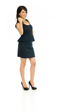 model isolated white background showing fist Stock Photo