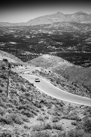 Scenic view of mountain landscape; Crete; Greece