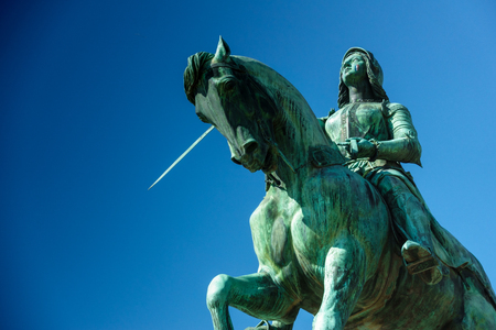 Low angle view of Statue of Joan of Arc; France