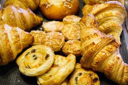 Fresh baked croissants for breakfast