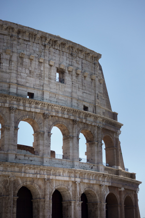 Ruine of Colosseum in Rome; Italy Banque d'images - 114953079
