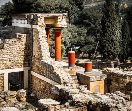Ruins of knossos palace