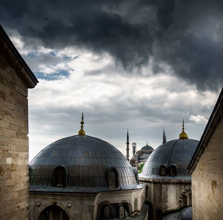 Architectural dome of Suleymaniye Mosque, Istanbul