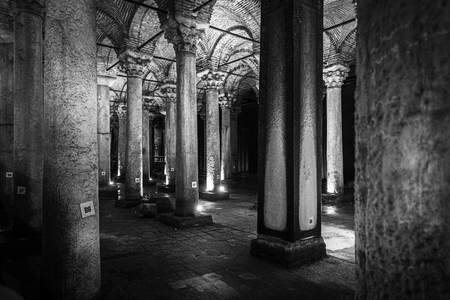 The Basilica Cistern is the largest of several hundred ancient cisterns that lie beneath the city, Istanbul