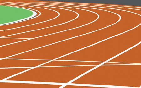 pista de atletismo: Ilustraci�n de una pista utilizada para eventos deportivos