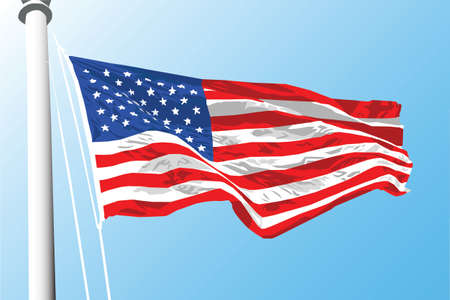 Illustration of a United States flag 版權商用圖片 - 3106551