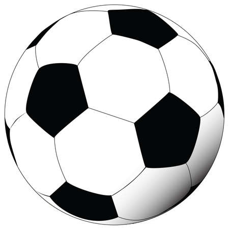Vector illustration of soccer ball Иллюстрация