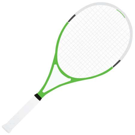 elite sport: Vector illustration of a tennis racquet