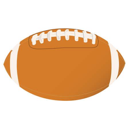 interception: Vector illustration of a football Illustration