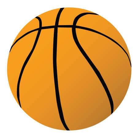 Vector illustration of a basketball Ilustração