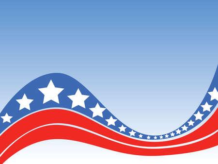 様式化された星とストライプとアメリカの独立を祝う特別な背景。  イラスト・ベクター素材