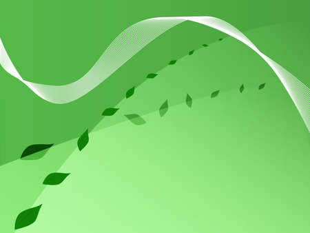 Illustration background derived from vector, showing green shades and leaves.