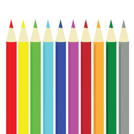 Ilustración de lápices de colores diferentes Foto de archivo - 3174618