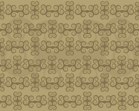 Background wallpaper using floral elements in brown and beige antique style Illusztráció