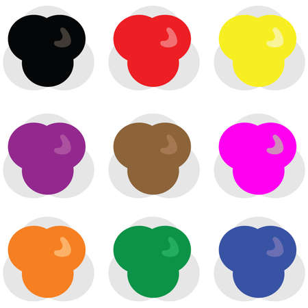 Collection of different colour web buttons for use in pages or presentations Vector