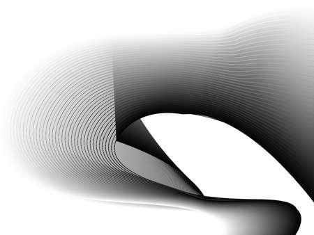 白、灰色と黒の波の抽象的なイラスト背景