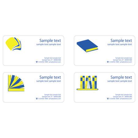 book logo: Plantilla para tarjetas de visita con la lectura tema