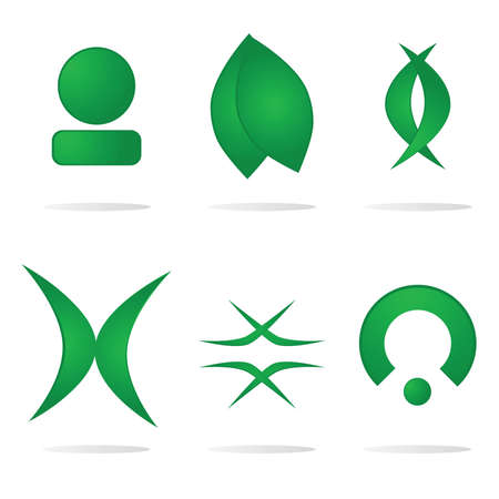 Set of abstract components for logos
