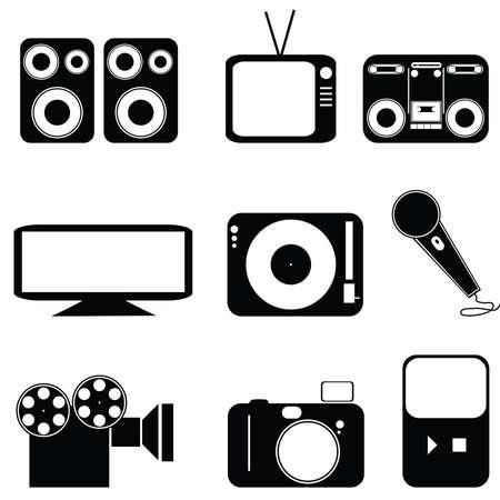 異なる種類のメディアのアイコンを設定