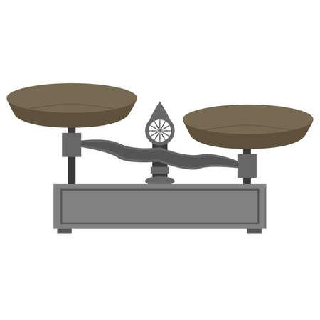 Illustration d'une échelle en métal de style vintage Vecteurs