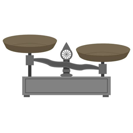 heavy weight: Illustration of a vintage style metal scale