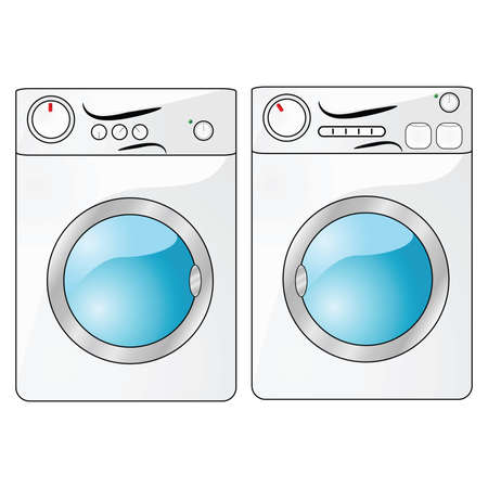 Illustration of a washing machine beside a dryer Stock Vector - 4573228