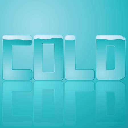 Glossy illustration of the word cold represented by different tones of blue Imagens - 7420115