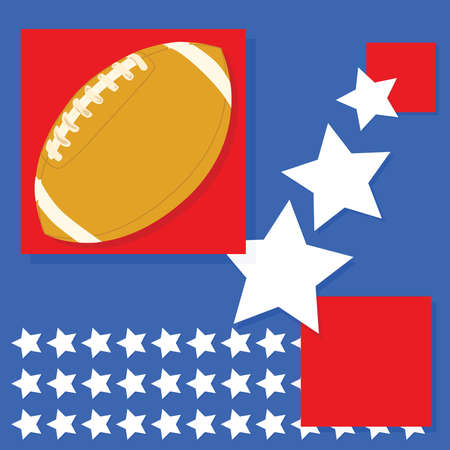 tough: Background with United States theme and an American football Illustration