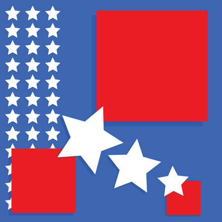Background image with an United States theme - blue and red squares with white stars