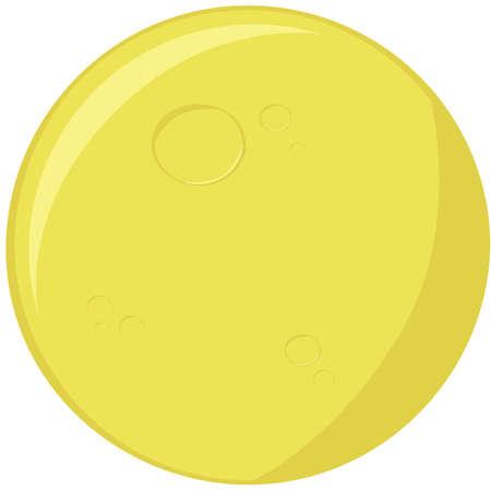 Beeldverhaalillustratie van een ronde volle maan