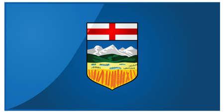 アルバータ州、カナダの旗の光沢のあるイラスト 写真素材 - 7697312