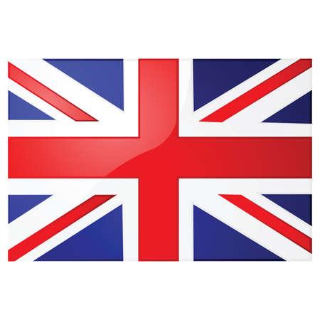 Glossy illustration of the Union Jack, the British flag