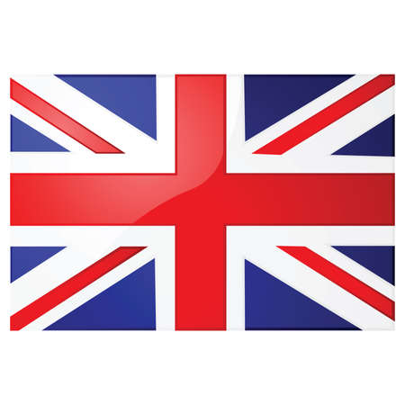 flag: Glossy illustration of the Union Jack, the British flag
