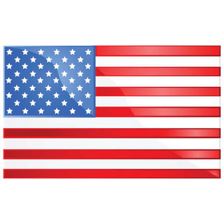 Glossy illustration of the flag of the United States of America Stock Vector - 7697381