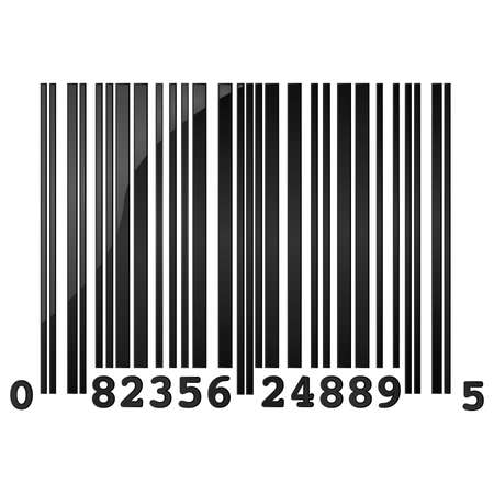 capitalismo: Glossy illustration of a random sample barcode