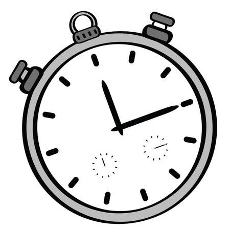 Cartoon illustration of a stopwatch
