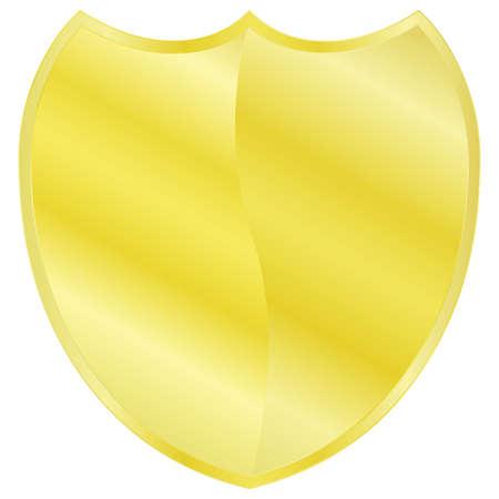 Illustration of a golden shield Çizim