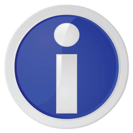 Glanzende afbeelding van een blauwe informatie bord